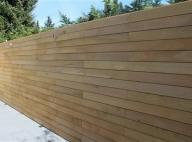 Houten Scheidingswand Tuin : Ecohout tuinwand